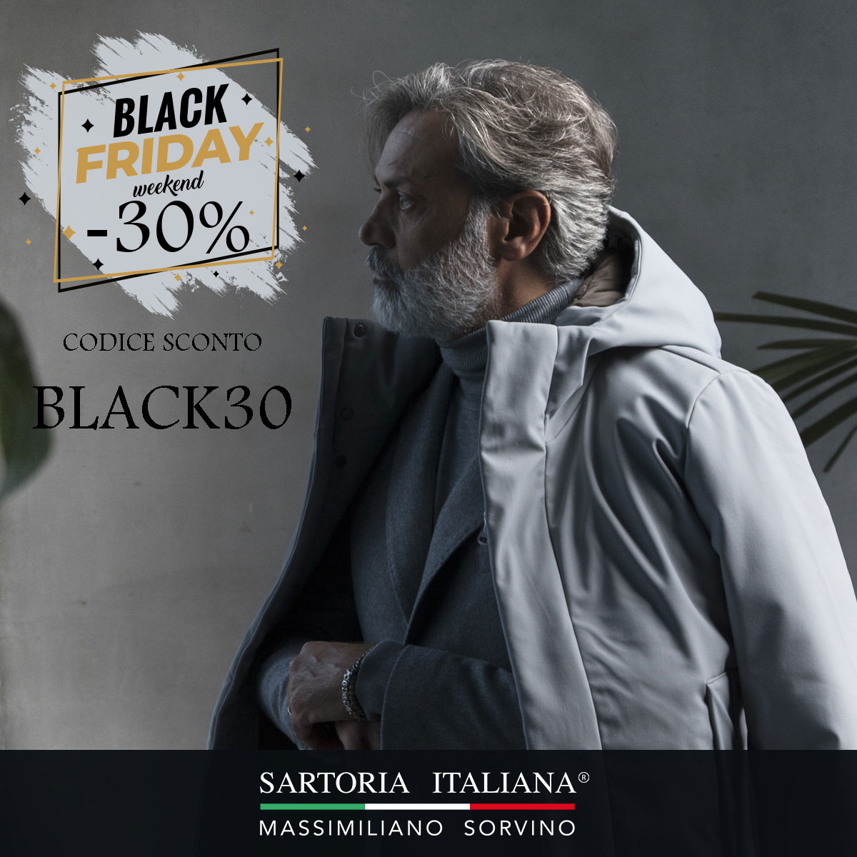 black friday-sartoria italiana-massimiliano sorvino